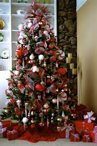 red and white christmas tree theme holiday fun pinterest