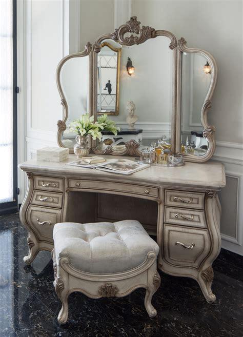 Provincial Vanity Stool by Platine De Royale Provincial Tufted Vanity