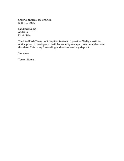 60 day notice apartment template best photos of letter from landlord to vacate sle