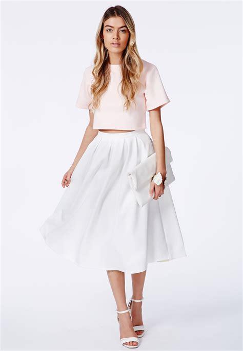 white pleated midi skirt dress journal