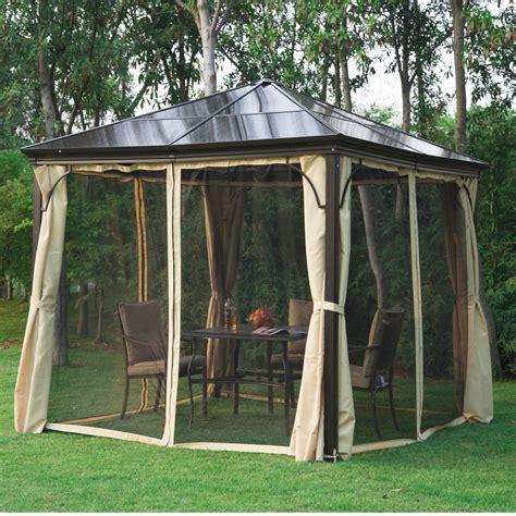gartenpavillon 4 x 3 m outsunny 3 x 3m gazebo garden outdoor hardtop sun shade