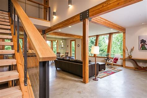 modern cottage interior impressive modern cottage at the base of squak mountain