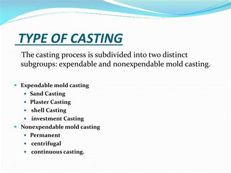 types of pattern in casting ppt ppt a seminar report on investment casting powerpoint