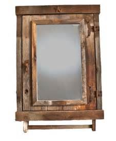 reclaimed rustic medicine cabinet with mirror bathroom