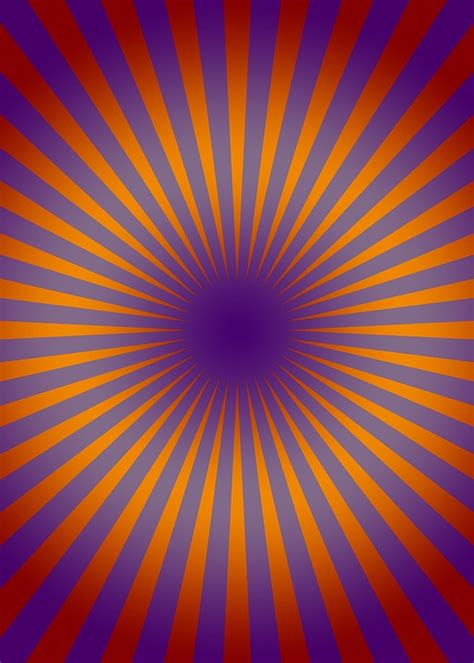 Free illustration: Retro, Circle, Lines, Rays, Orange