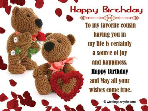 Happy Birthday To My Favorite Cousin Quotes Birthday Wishes For Cousin Wordings And Messages