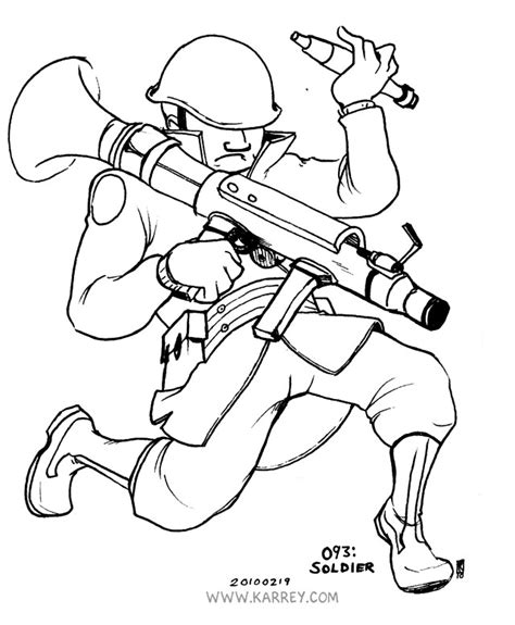free coloring pages of tf2 sniper