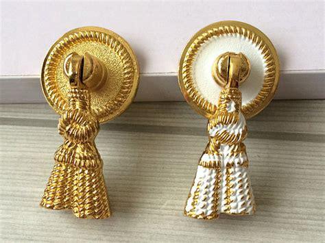 drop dresser knob drawer pulls handles knobs white gold