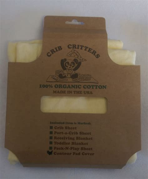 Crib Critters by Crib Critters Organic Contour Changing Pad Cover Yellow