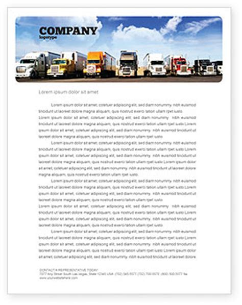 trucking company letterhead templates trucks letterhead template layout for microsoft word adobe illustrator and other formats 05080