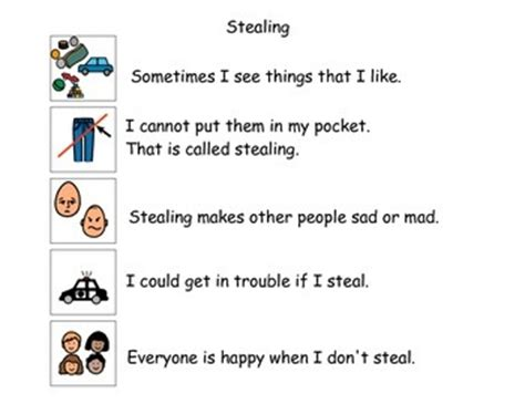 stealing social story by sarah s special ed treasures