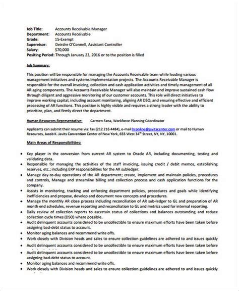 accounts receivable resume to get hired immediately excellent account manager resume sle