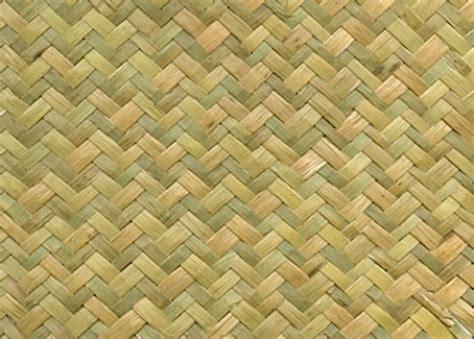 Lauhala Mat by Herringbone Weave Green Matting Roll Wallpaper