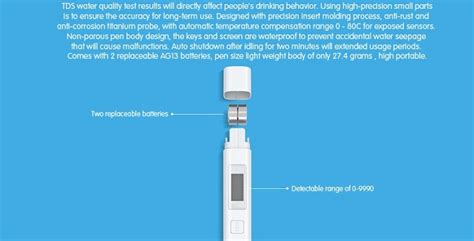 Alat Tester Kualitas Air Xiaomi Water Quality Detection Limited xiaomi water tds tester pen white jakartanotebook