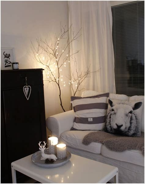 room with lights decorate your living room with string lights
