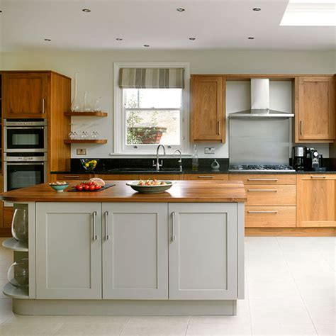 Soft Grey Painted Cabinets Traditional Kitchen | traditional kitchen with painted grey and plain wood units