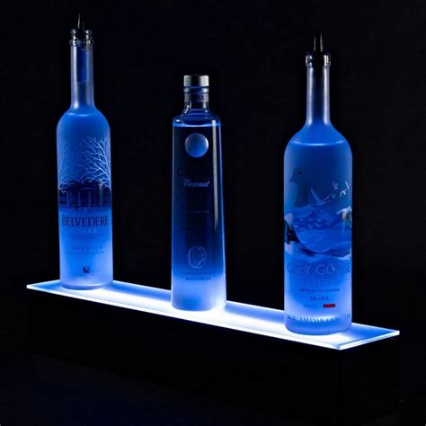 Bottle Shelf by Illuminated Floating Light Shelf Display Led Liquor