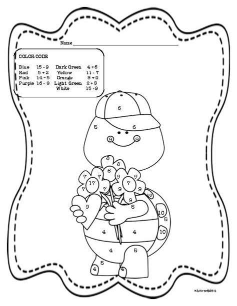 valentine math coloring page valentine color by number coloring home