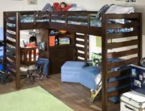 Two Desks In One Room by Corner Loft Bunk Beds Foter