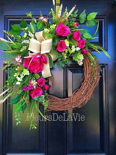 42 best spring door wreaths images on pinterest spring door free shipping spring door wreath floral door by