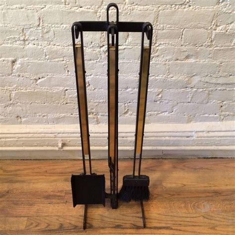 mid century modern fireplace tools wrought iron and brass mid century modern fireplace tools