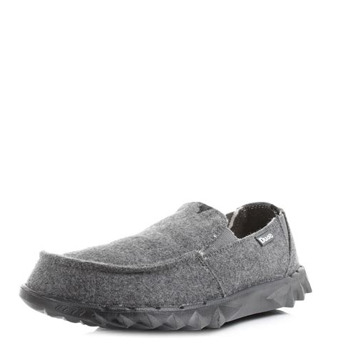 dude shoes mens hey dude shoes farty chalet grey felt comfort casual