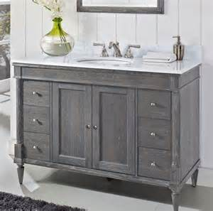 weathered bathroom vanity of like this weathered gray vanity bath remodel