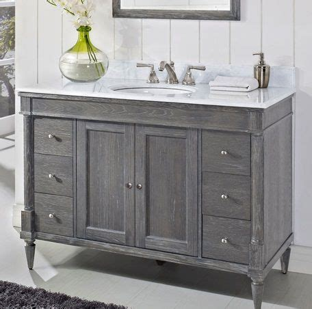 Weathered Bathroom Vanity Of Like This Weathered Gray Vanity Bath Remodel Pinterest Grey I Am And Grey Bathrooms