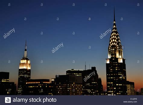chrysler building empire state building chrysler building and empire state building together at