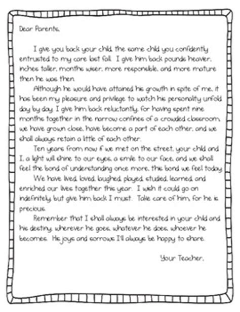 Thank You Letter To Kindy End Of The Year Parent Letter By Randi Teachers Pay Teachers