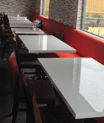 resin table tops for restaurants white glossy resin restaurant tables