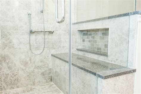 Glass Shower With Bench Large Tiled Shower With Bench And Frameless Glass Shower