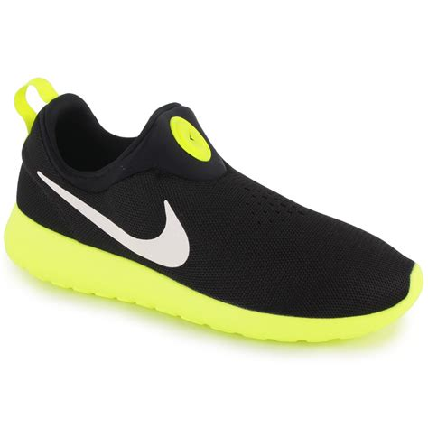 Nike Slip O nike roshe run slip on mens trainers in black white
