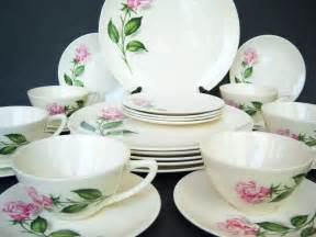 beautiful shabby chic pink rose dinnerware by