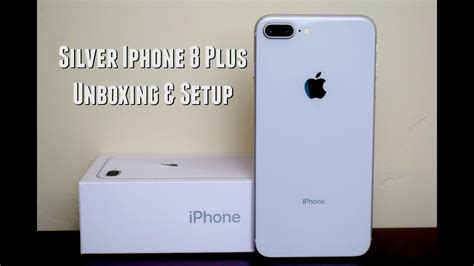 silver iphone 8 plus unboxing setup