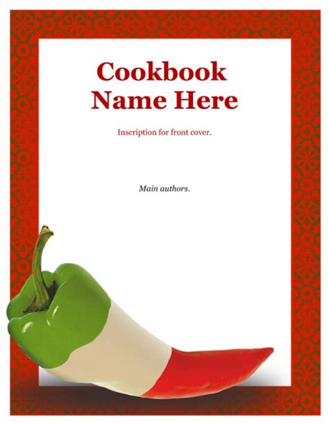 Recipe Book Cover Template Free 4 best images of recipe book front cover recipe book