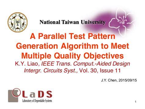 test pattern generation for bist ppt paper review a parallel test pattern generation algorithm