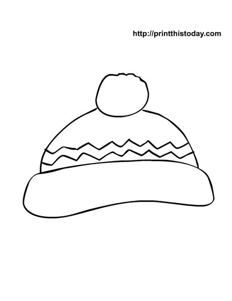 hat template printable winter hat coloring page new calendar template site