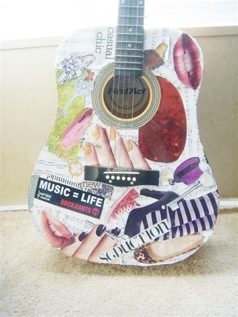How To Decoupage A Guitar - decoupage guitar 183 a guitar 183 decoupage on cut out keep