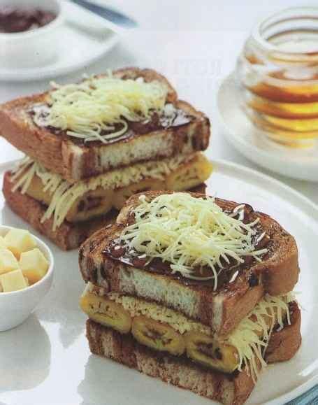 resep membuat roti bakar pisang coklat keju enak mudah