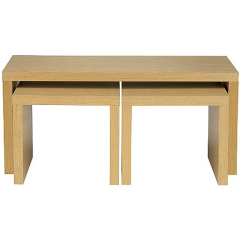 Asda Side Table Ancona Coffee Table Nest In Oak Coffee Side Tables Asda Direct