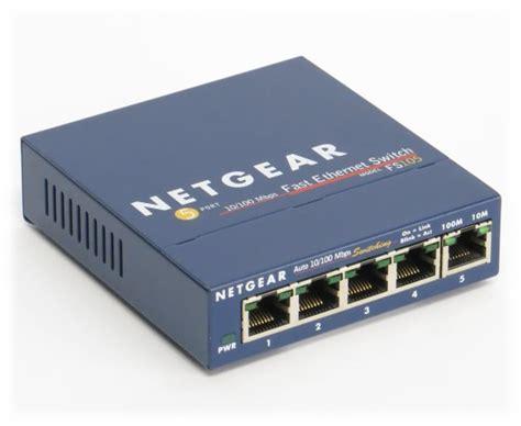 netgear prosafe 5 port netgear fs105 prosafe 5 port 10 100 switch 5x rj 45 fast
