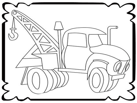 tow truck coloring coloring pages