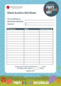 auction forms templates 12 silent auction forms template templates assistant