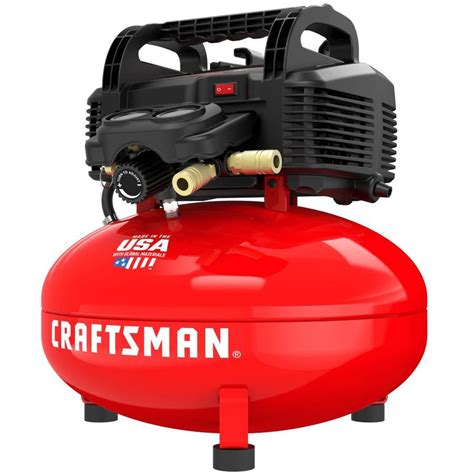 craftsman 6 gallon portable electric pancake air compressor at lowes