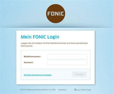 login vergessen fonic login daten vergessen so trotzdem anmelden