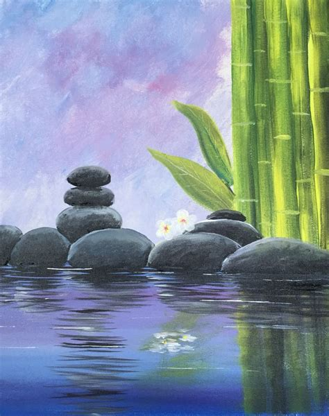 paint nite zen photos easy landscape painting to draw drawing gallery