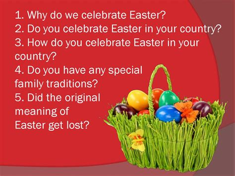 why do celebrate why do celebrate easter questions