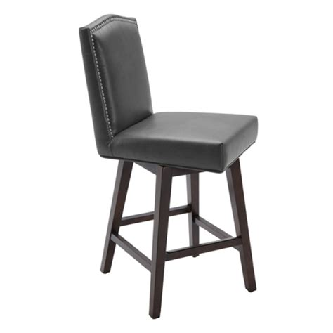 Leather Swivel Counter Stools by Maison Leather Swivel Counter Stool Grey Leather