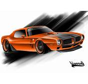 Pro Touring Rendering 73 Trans Am